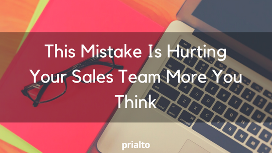 mistake hurting sales team