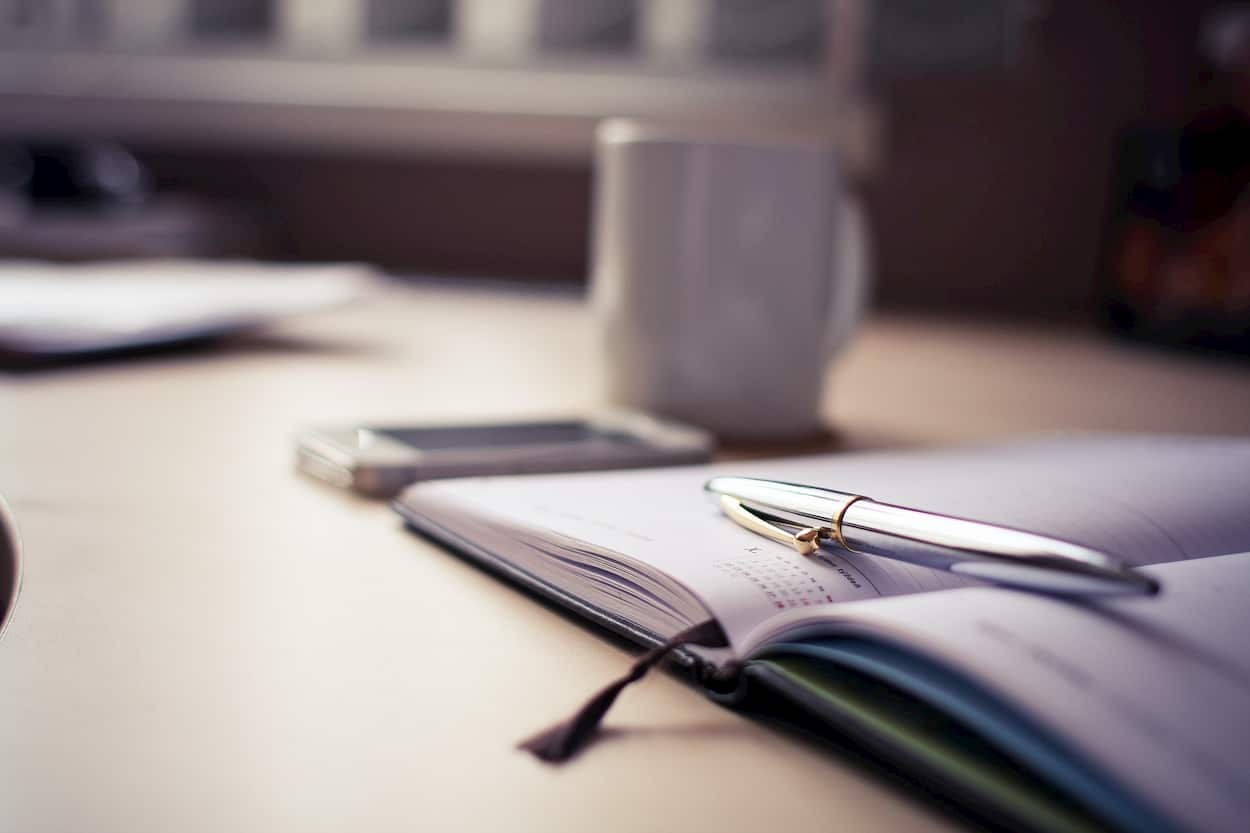 Photo of a planner.