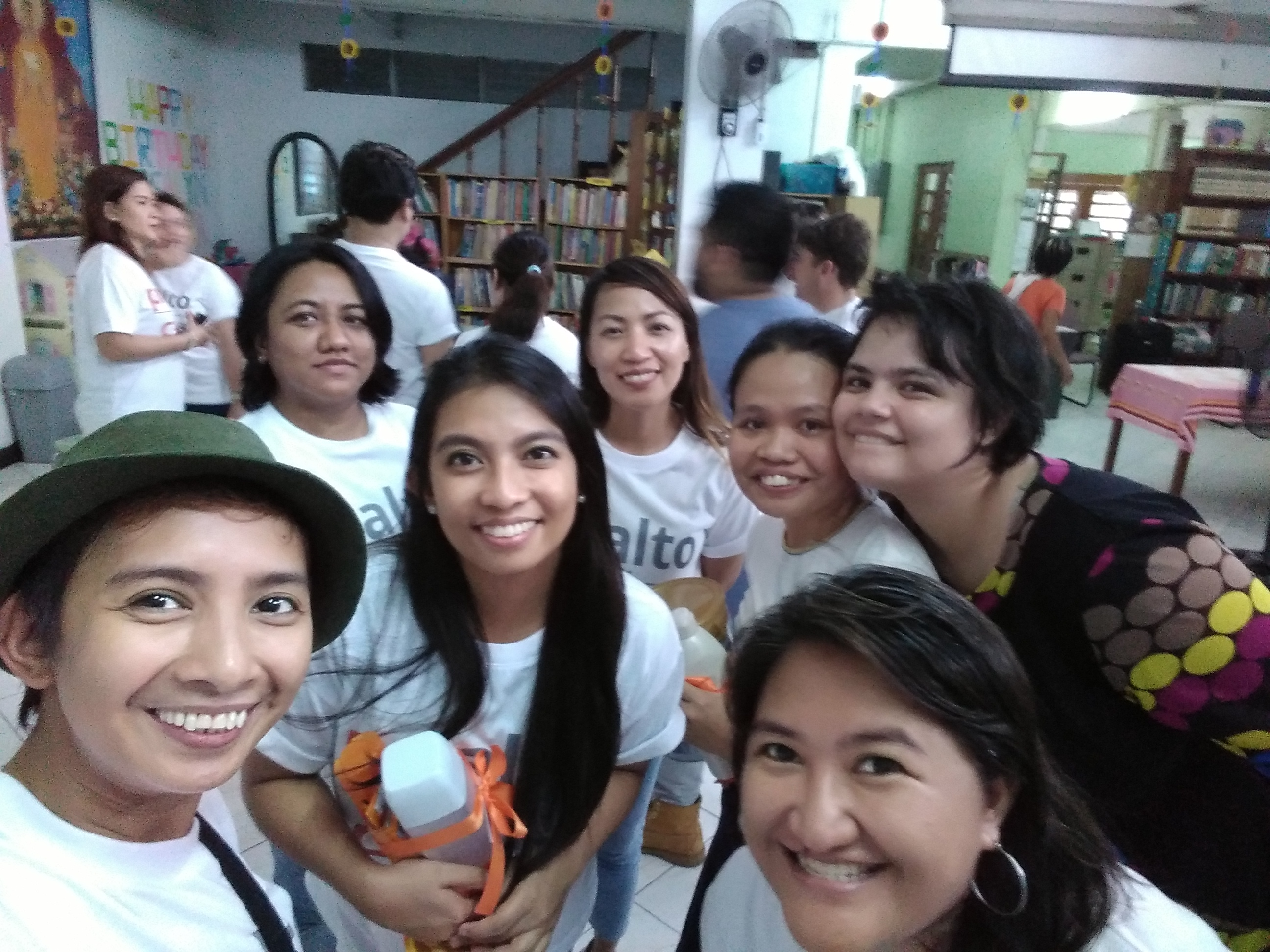 photo of our team volunteering at an orphange